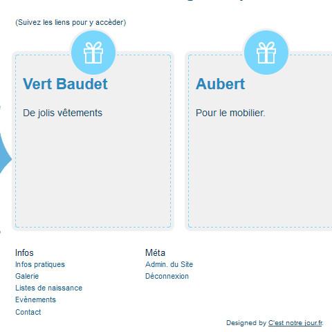 Site de naissance Nounours - outils