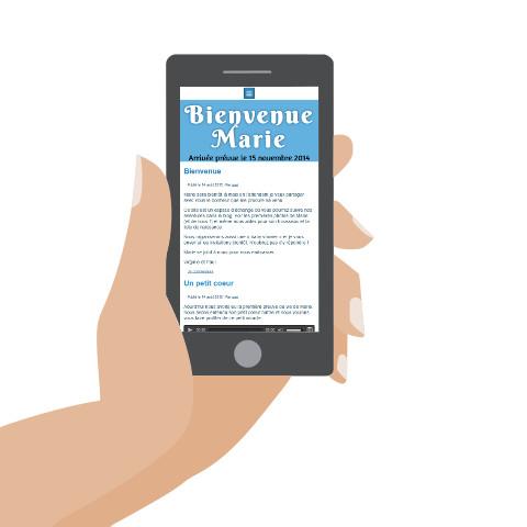 Site de naissance Nounours - smartphone